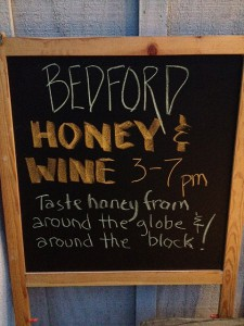 Bedford Winery Honey Tasting