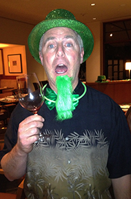 St. Paddy's Day with vino
